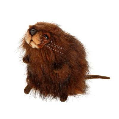 Life-size and realistic plush animals.  5201 - MUSKRAT 9''L