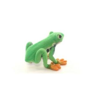Life-size and realistic plush animals.  5218 - RED EYED TREE FROG 7'' L