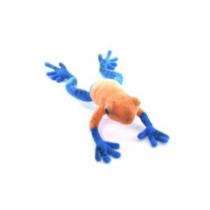 BLUE DART TREE FROG 7''L Plush Toy