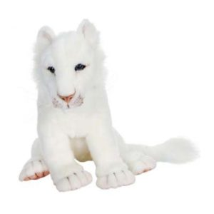 WHITE LION CUB 14''L Plush Toy