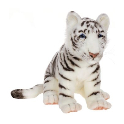 WHITE TIGER CUB 15''L Plush Toy