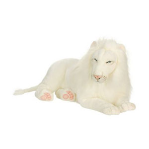 WHITE LION 39''L Plush Toy