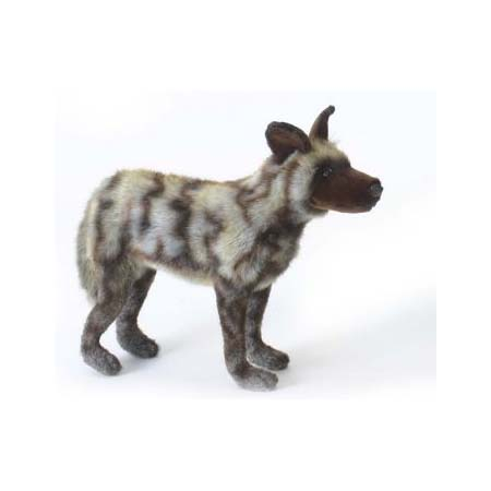 Life-size and realistic plush animals.  5244 - AFRICAN WILD DOG 15.75''