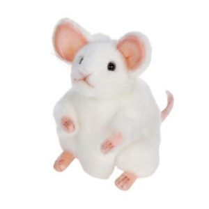 WHITE GERMAN MOUSE 6'' Plush Toy