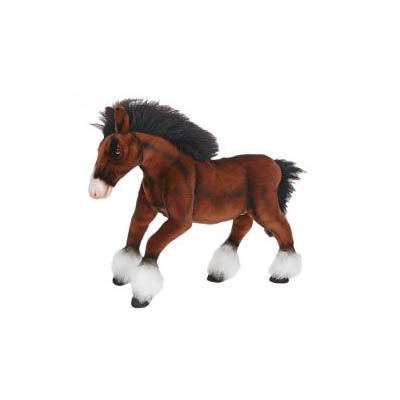 """CLYDESDALE HORSE 20""""L Plush Toy"""