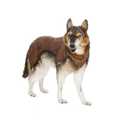 WOLF TIMBER STANDING 40'' L Plush Toy