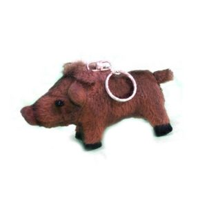 "WILD BOAR KEYCHAIN 4.33""L Plush Toy"