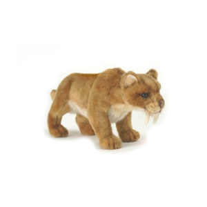 "SABER TOOTH TIGER 12""L Plush Toy"