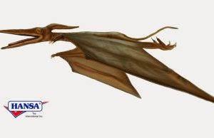 """Life-size and realistic plush animals.  5719 - PTERODACTYL 103"""" Wingspan"""