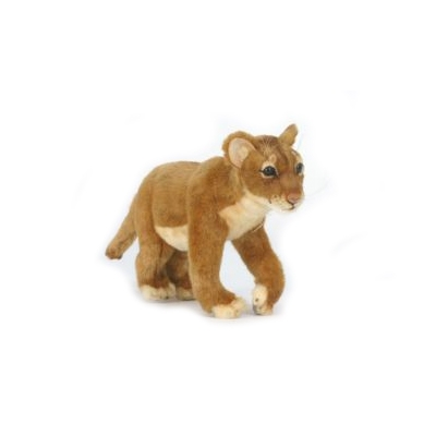 Life-size and realistic plush animals.  5746 - STANDING LION CUB 14''L