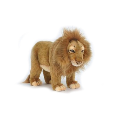 Life-size and realistic plush animals.  5771 - LION MALE STANDING 8''