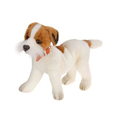 Life-size and realistic plush animals.  5901 - JACK RUSSEL TERRIER 12''L