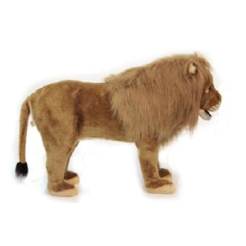 """Life-size and realistic plush animals.  6079 - LION SEAT   32""""L x 21""""H"""