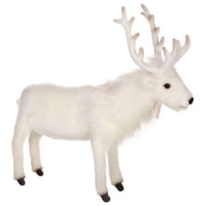 REINDEER WHITE 15''H Plush Toy