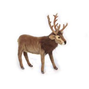 Life-size and realistic plush animals.  6189 - REINDEER