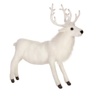 REINDEER WHITE 20''H Plush Toy