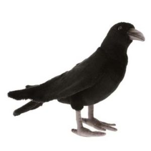 """Life-size and realistic plush animals.  6266 - BLACK CROW 12.1""""L"""