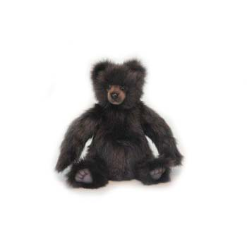 Life-size and realistic plush animals.  6369 - TEDDY MIKEY BROWN 12''H