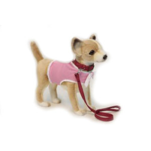 "CHIHUAHUA  PNK (COAT/LEASH) 10.7""L Plush Toy"