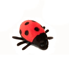 "LADY BUG (Red)   6.7""L Plush Toy"