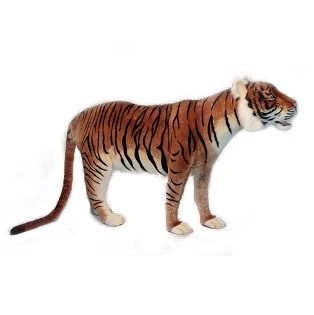 "TIGER JACQUARD STANDING 72""L Plush Toy"