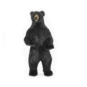 """Life-size and realistic plush animals.  6607 - BLACK BEAR UP 60""""H"""