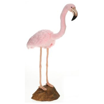 Life-size and realistic plush animals.  6771 - FLAMINGO PINK W/STND 31''H