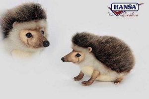 """Life-size and realistic plush animals.  6807 - AFRICAN PYGMY HEDGEHOG 9""""L"""