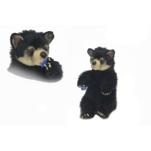 """Life-size and realistic plush animals.  6861 - BLACK BEAR CUB Cuddly 13.5""""H Seated"""