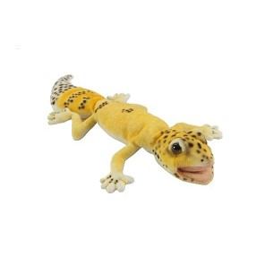 """Life-size and realistic plush animals.  6931 - GECKO CARROT TAILED 10""""L"""