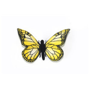 "YELLOW BUTTERFLY 5.5""W Plush Toy"