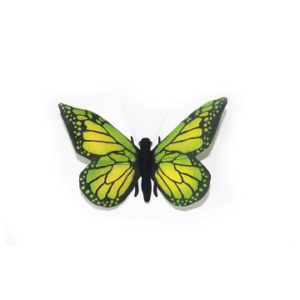 "GREEN BUTTERFLY 5.5""W Plush Toy"