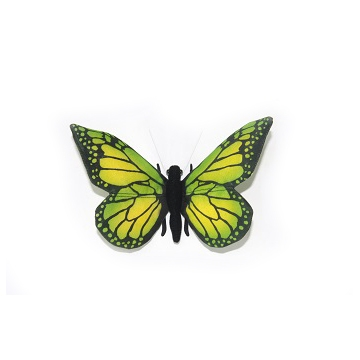 """GREEN BUTTERFLY 5.5""""W Plush Toy"""