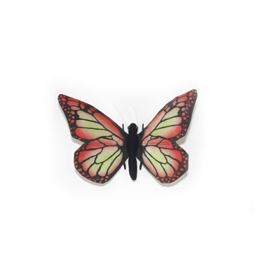"RED BUTTERFLY 5.5""W Plush Toy"