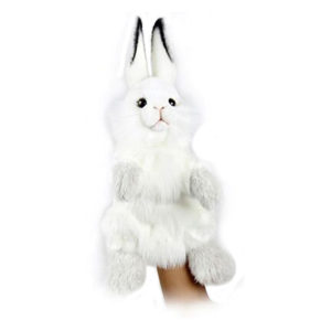 "WHITE RABBIT PUPPET 13"" Plush Toy"