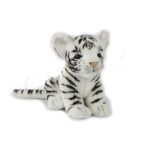 "TIGER CUB WHITE 6.5""L Plush Toy"