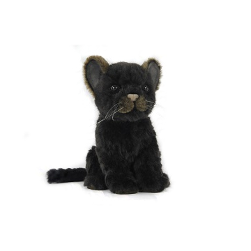 "JAGUAR CUB BLACK 6.5""L Plush Toy"
