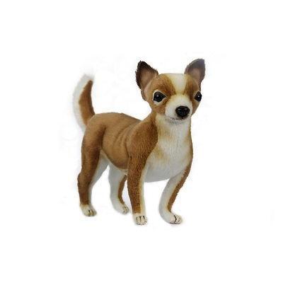 """Life-size and realistic plush animals.  7458 - CHIHUAHUA 9.5""""L"""
