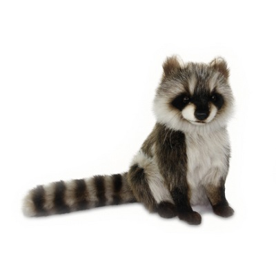 "RACOON SITTING 12""H Plush Toy"