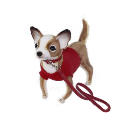 "CHIHUAHUA (RED SHIRT) 9""L Plush Toy"