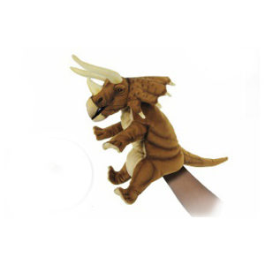 "TRICERATOPS PUPPET (BROWN) 16""L Plush Toy"