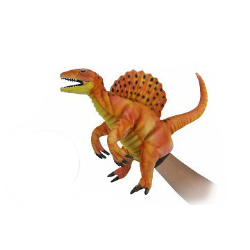 "SPINOSAURUS PUPPET (ORANGE) 16""L Plush Toy"