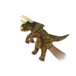 "TRICERATOPS PUPPET  (BRN/GRN) 17""L Plush Toy"
