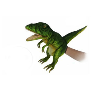 "T-REX PUPPET (NEON GREEN) 19""L Plush Toy"