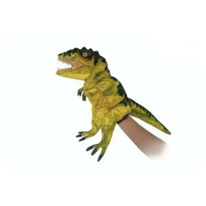 """Life-size and realistic plush animals.  7766 - T-REX PUPPET (YLW GRN) 19""""L"""