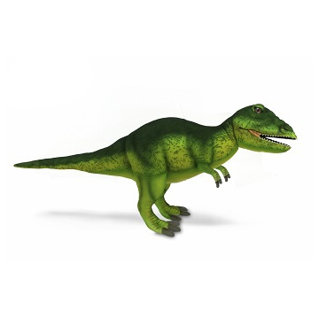 """Life-size and realistic plush animals.  7775 - T-REX (NEON GREEN) 26""""L"""