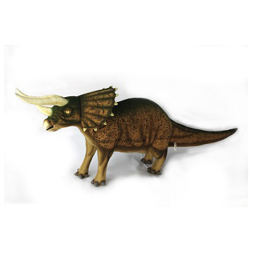 """Life-size and realistic plush animals.  7817 - TRICERATOPS (BROWN) 50""""L"""