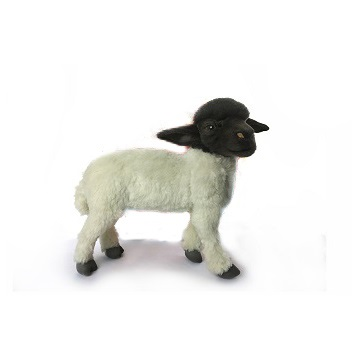 "SHEEP BLACK/WHITE STANDING 14""L Plush Toy"