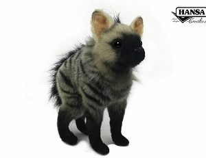 Life-size and realistic plush animals.  7840 - AARDWOLF BABY