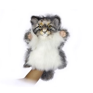 Life-size and realistic plush animals.  7519 - PALLAS CAT PUPPET 40CM.H